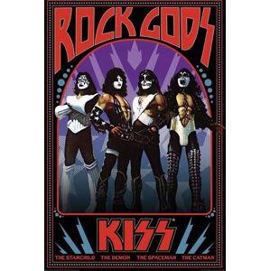Kiss Rock Gods plakát vícebarevný