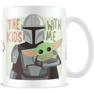 Star Wars The Mandalorian - The Kids With Me Hrnek vícebarevný