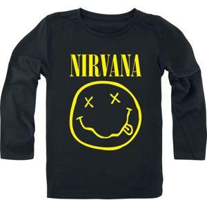 Nirvana Smiley detské tricko - dlouhý rukáv černá