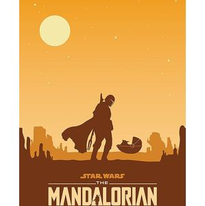 Star Wars The Mandalorian - Meeting tisk na plátne standard