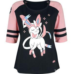 Pokémon Sylveon dívcí triko s dlouhými rukávy cerná/ružová