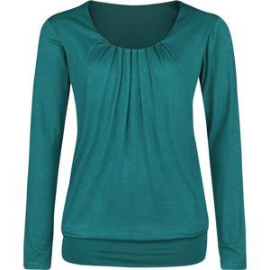 Forplay Frail Shirt dívcí triko s dlouhými rukávy petrolejová