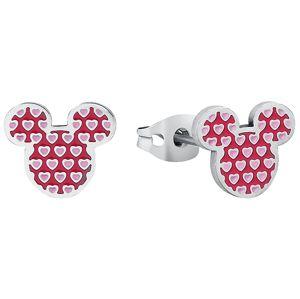 Mickey & Minnie Mouse Disney by Couture Kingdom - Micky Heart sada náušnic stríbrná