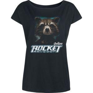 Avengers Endgame - Rocket Raccoon dívcí tricko černá