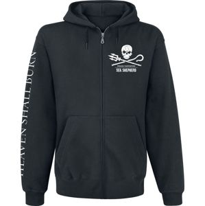 Heaven Shall Burn Sea Shepherd Cooperation - For The Oceans mikina s kapucí na zip černá
