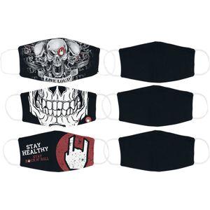EMP Mask Bundle Small Size - 3er Bundle als Doppelpack maska Černá / šedá / červená