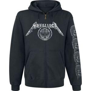 Metallica Templar mikina s kapucí na zip černá