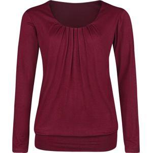 Forplay Frail Shirt dívcí triko s dlouhými rukávy bordová