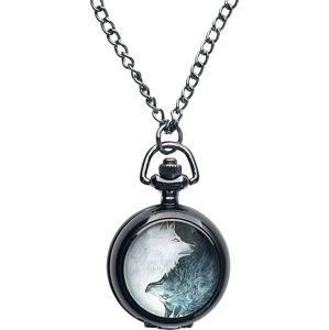 Mysterium® Kapesní hodinky Wolves Pack Řetízkové hodinky černá