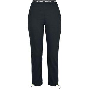 Urban Classics Dámské kalhoty s logem v pase Dívčí kalhoty černá