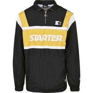 Starter Half Zip Retro Jacket bunda cerná/zlatá