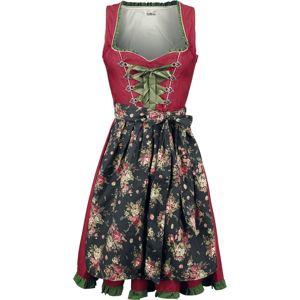 Dirndline Dirndl s denimem šaty cervená/zelená