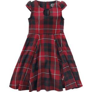 H&R London Dětské šaty Red Tartan detské šaty cervená/cerná