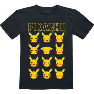 Pokémon Pikachu - Faces detské tricko černá