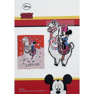 Mickey & Minnie Mouse I´m A Llama Fun nášivka vícebarevný