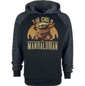 Star Wars The Mandalorian - The Child mikina s kapucí cerná/šedá