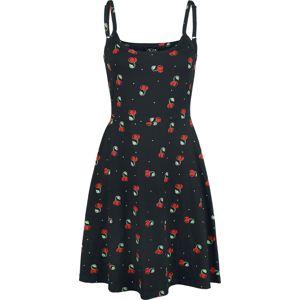 Pussy Deluxe Šaty s třešněmi Sweet Cherry šaty černá
