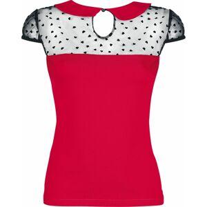 Banned Alternative Top Dark Heart Desire Dámské tričko červená