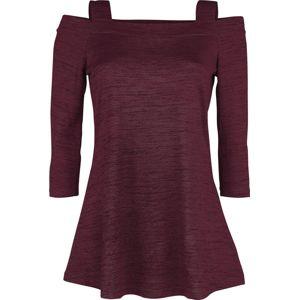 RED by EMP Rotes Langarmshirt mit ausgestelltem Saum dívcí triko s dlouhými rukávy bordová/cerná