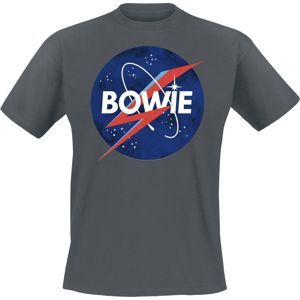 David Bowie Amplified Collection - To The Moon tricko charcoal