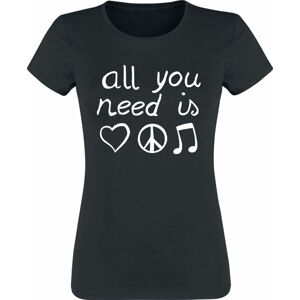All You Need Is... Dámské tričko černá