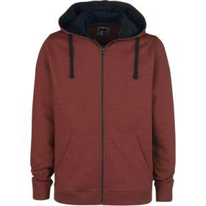 Black Premium by EMP Mask Of Sanity mikina s kapucí na zip červená