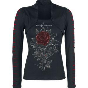 Alchemy England Roses Nest dívcí triko s dlouhými rukávy černá