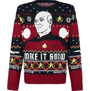 Star Trek Make It Snow Svetr vícebarevný
