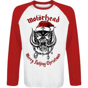 Motörhead Merry F*cking Christmas tricko s dlouhým rukávem bílá/cervená