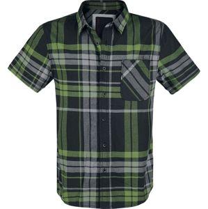 Brandit Kostkovaná košile Mike košile cerná/šedá/zelená