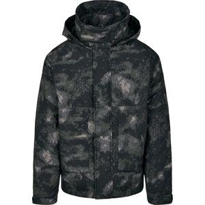 Urban Classics Zimní bunda s kapsami zimní bunda tmavě maskáčová
