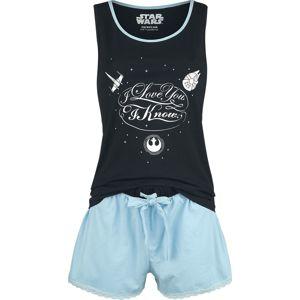 Star Wars I Love You pyžama svetle modrá/cerná