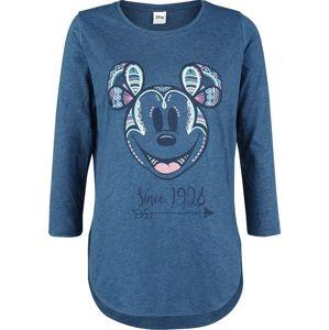 Mickey & Minnie Mouse Since 1928 dívcí triko s dlouhými rukávy smíšená modrá