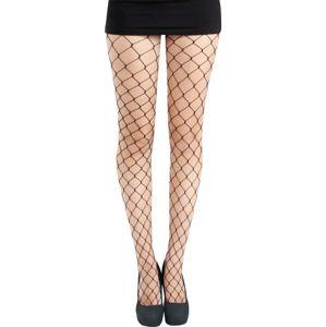 Pamela Mann Extra dlouhé síťované punčochy Punčocháče černá