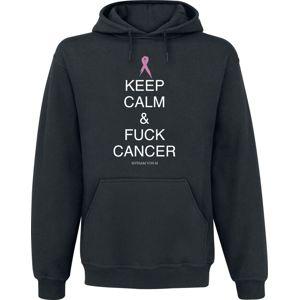 Fuck Cancer by Myriam von M Keep Calm mikina s kapucí černá