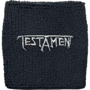 Testament Logo - Wristband Potítko černá