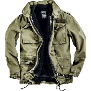 Black Premium by EMP Army Field Jacket bunda olivová