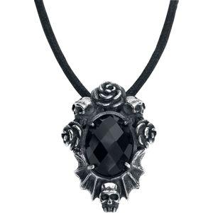 Mysterium® Skull & Roses Přívěsek cerná/stríbrná