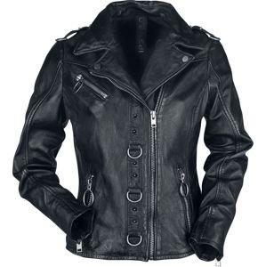 Gipsy G2GPunk LAFOV dívcí kožená bunda černá