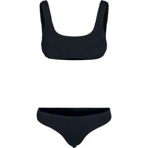Urban Classics Dámské tankiny s pokrčeným efektem bikini černá