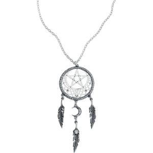 Alchemy Gothic Náhrdelník Pagan Dream Catcher Náhrdelník - řetízek stríbrná