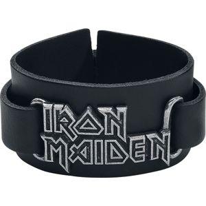 Iron Maiden Iron Maiden Logo Kožený náramek černá
