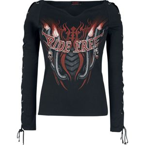 Spiral Ride Free dívcí triko s dlouhými rukávy černá