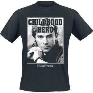 MacGyver Childhood Hero tricko černá