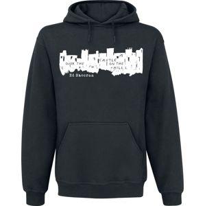 Ed Sheeran Castle Hood White mikina s kapucí černá