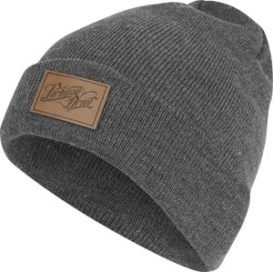 Parkway Drive Leather Patch Logo Beanie čepice charcoal