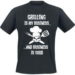 Grilling Is My Business... Tričko černá