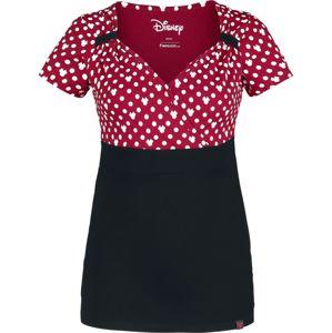 Mickey & Minnie Mouse Minni Polka Dots dívcí tricko cervená/cerná/bílá