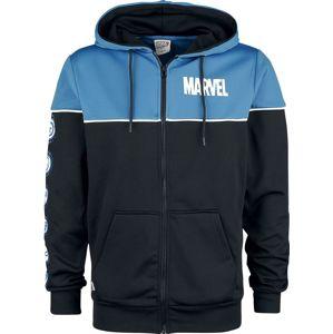 Marvel Icons mikina s kapucí na zip modrá/cerná