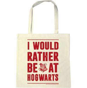 Harry Potter I would rather Plátená taška bílá